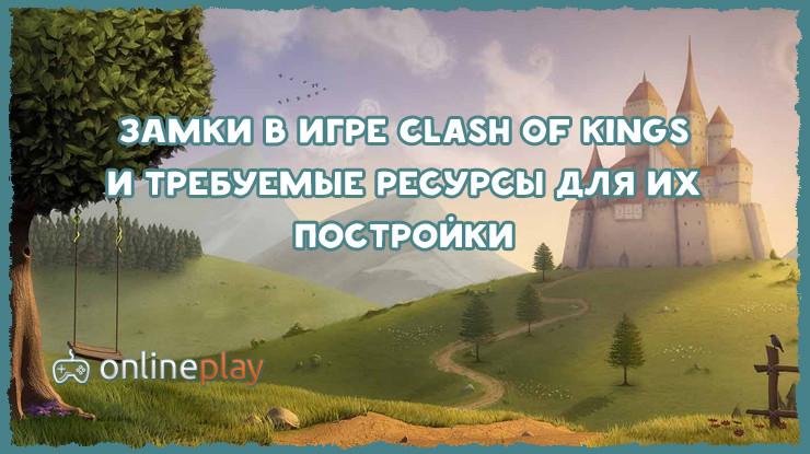 Внешний вид замков в игре Clash of Kings